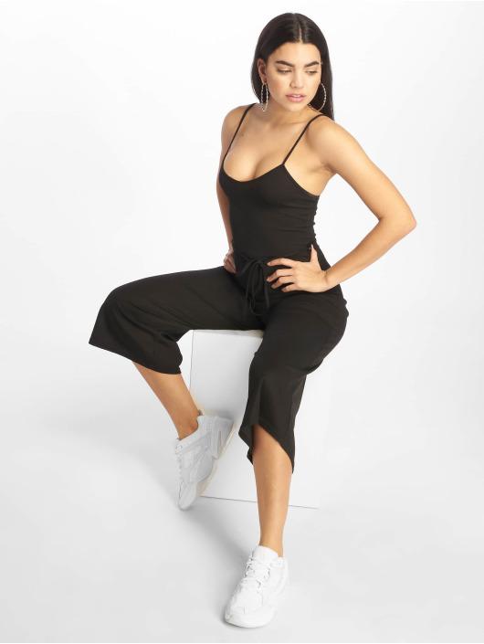Missguided Jumpsuits Black Rib Culotte black