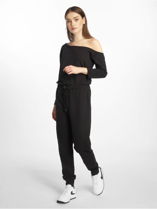 Missguided Jumpsuits Tall Loopback Off The Shoulder czarny