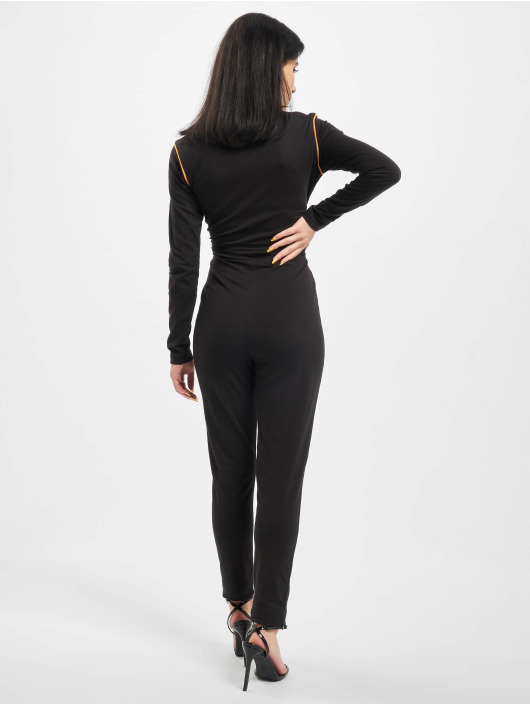 Missguided Jumpsuits High Neck Contrast Piping czarny