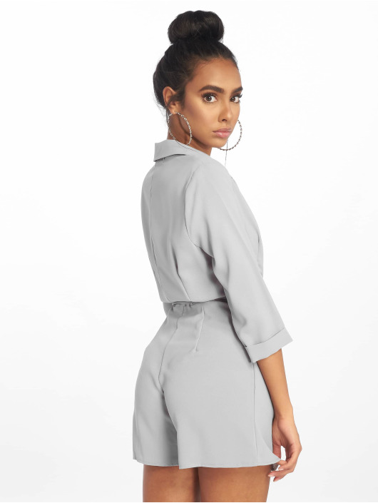 Missguided Jumpsuits Wrap Blazer grey