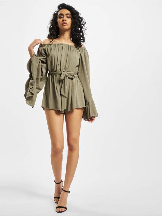 Missguided Jumpsuits Bardot Crinkle khaki