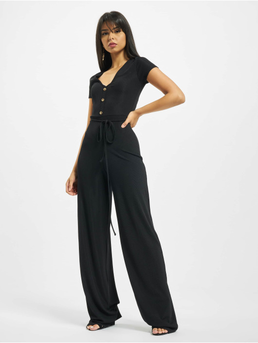 Missguided Jumpsuits Rib V Front Button sort