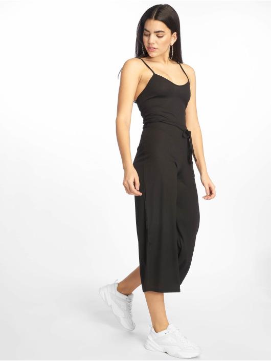 Missguided Jumpsuits Black Rib Culotte svart