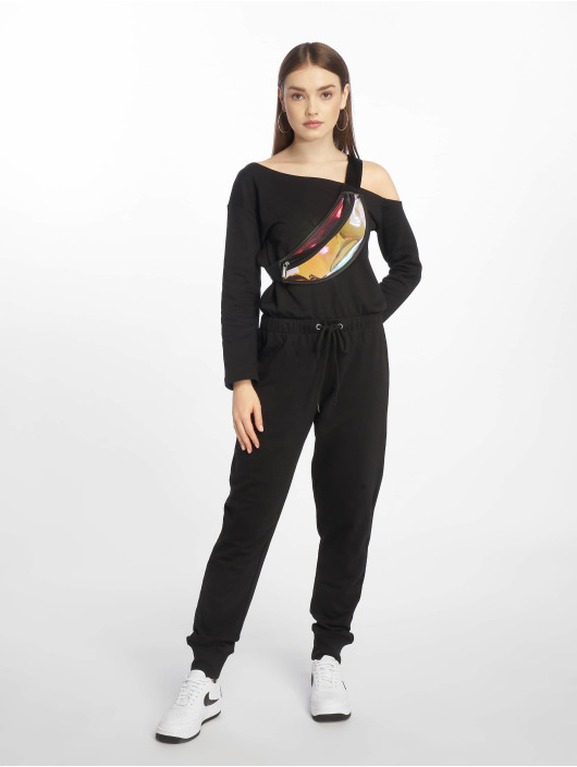 Missguided Jumpsuits Tall Loopback Off The Shoulder svart