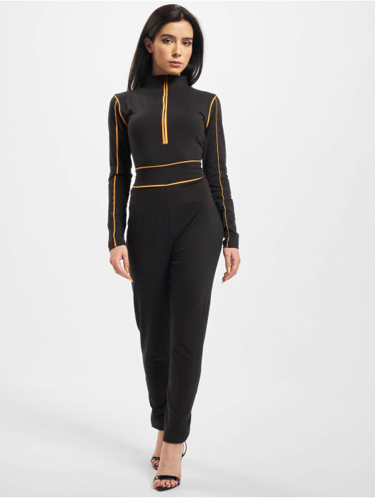 Missguided Jumpsuits High Neck Contrast Piping svart