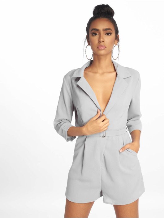 Missguided Jumpsuits Wrap Blazer szary