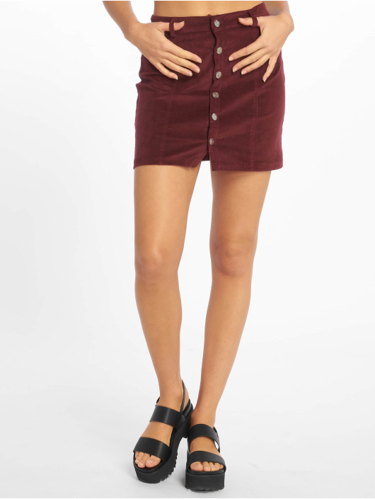Missguided Jupe Cord Button Through pourpre
