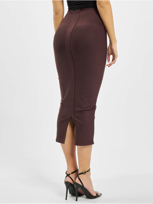 Missguided Jupe Bandage pourpre