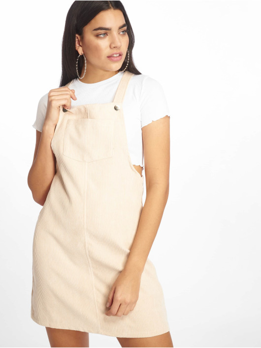Missguided jurk Cord Pinafore beige