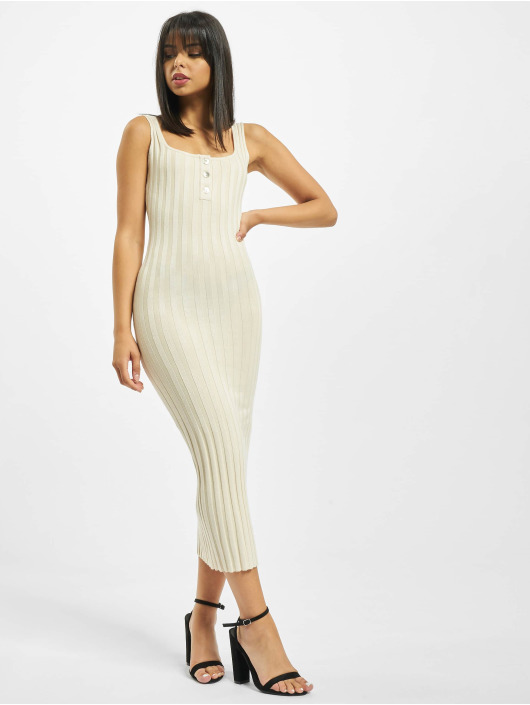 Missguided jurk Petite Knitted Rib beige