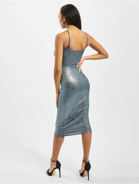 Missguided jurk Metallic Strappy blauw
