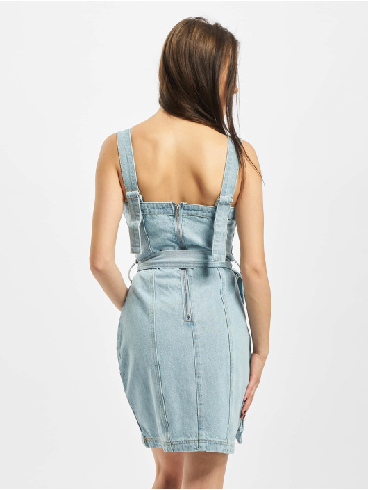 Missguided jurk Zip Up With Belt Bag blauw