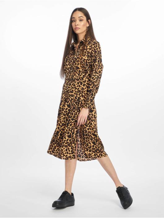 Missguided jurk Midi Leopard bruin