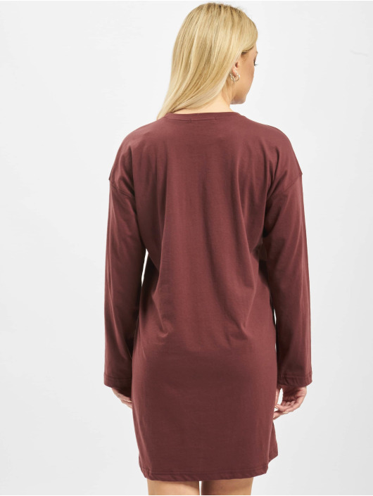Missguided jurk Oversized Longsleeve T-Shirt Edition bruin