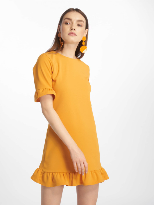 Missguided jurk Frill Detail Shift geel