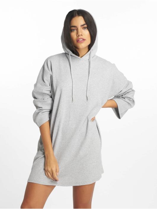 Missguided jurk Oversized Hooded Sweater grijs