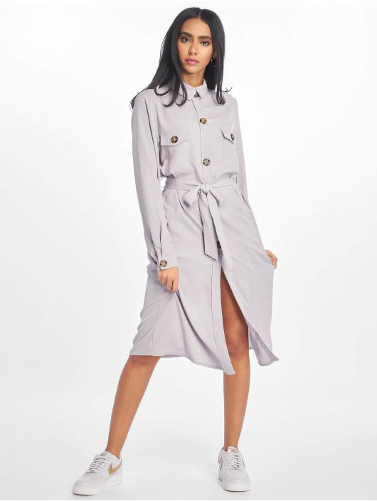 Missguided jurk Utility Shirt grijs