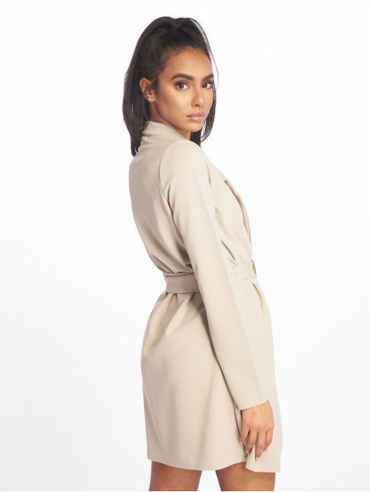 Missguided jurk Long Sleeve Belted Blazer grijs