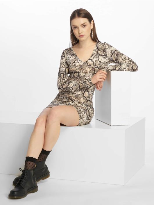 Missguided jurk Long Sleeve Open Back grijs