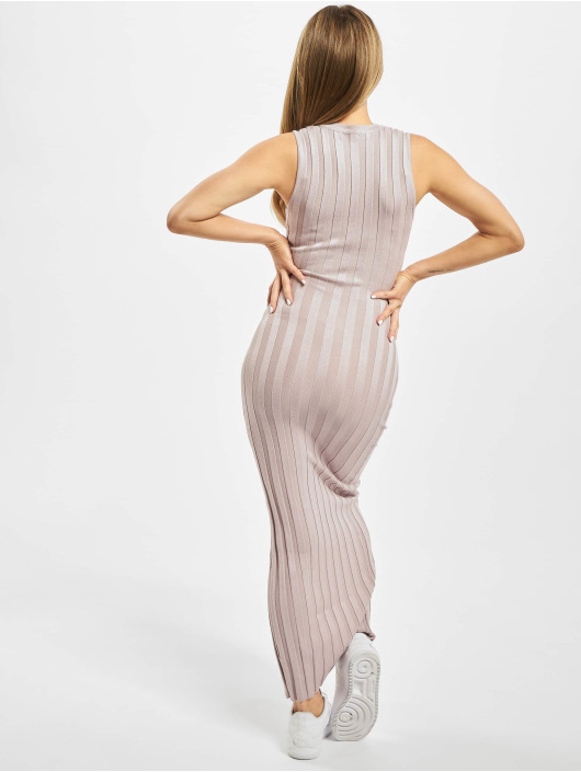 Missguided jurk Ribbed Button Up paars