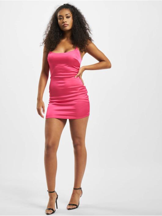 Missguided jurk Petite Satin Slip pink
