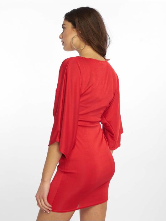 Missguided jurk Kimono Sleeve Twist rood