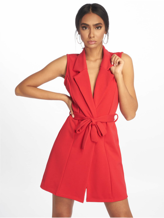 Missguided jurk Sleeveless Blazer rood