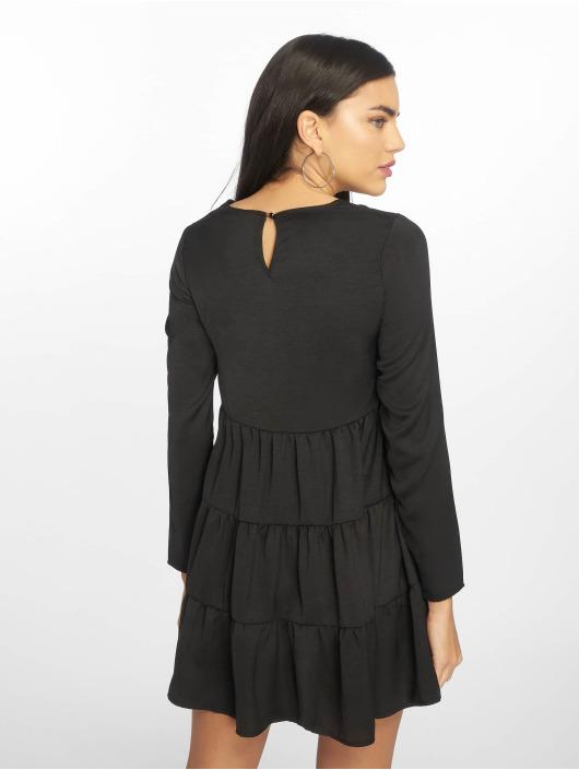 Missguided jurk Long Sleeve Smock zwart