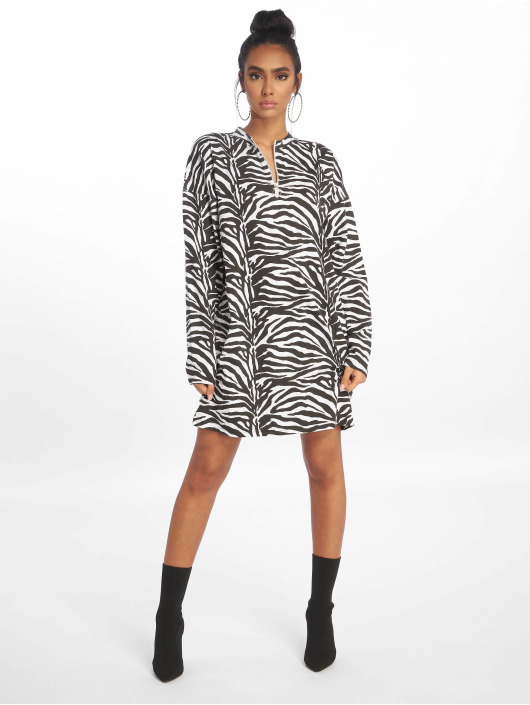 Missguided jurk Oversized LL Zip Front zwart