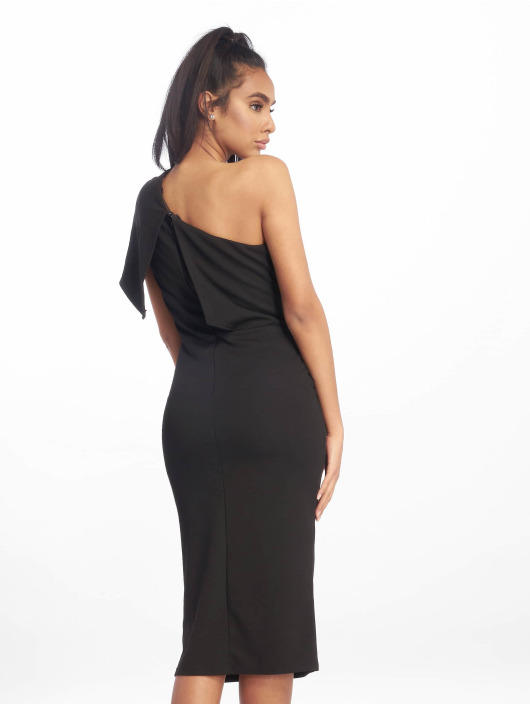 Missguided jurk One Shoulder Midi zwart