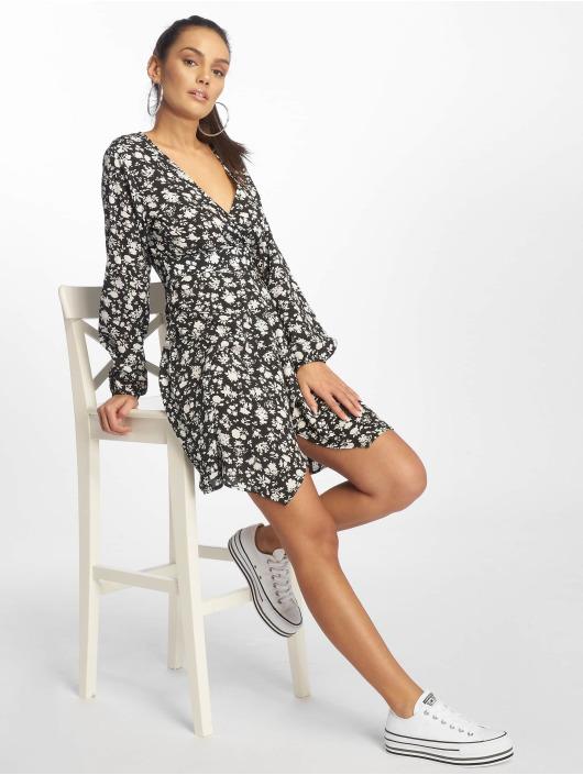 Missguided jurk Wrap Side Tea zwart
