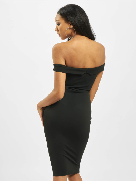 Missguided jurk V Front Bardot zwart