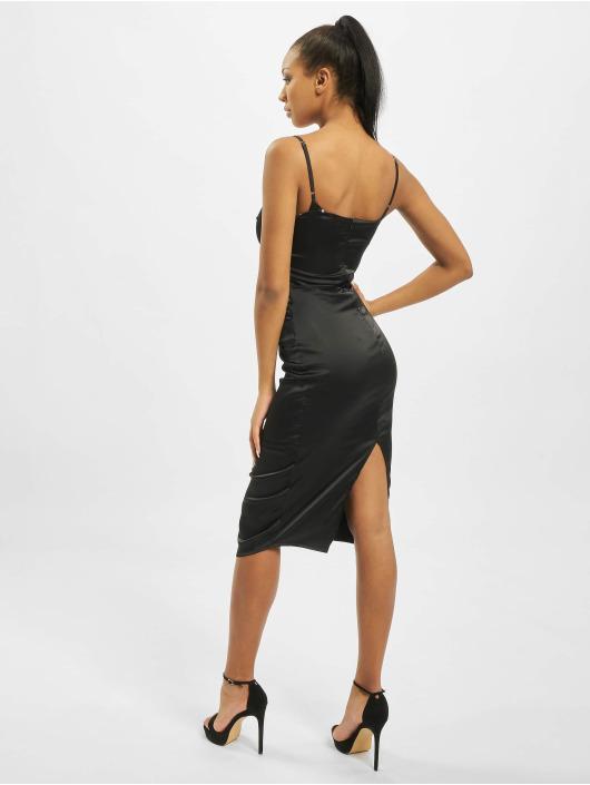 Missguided jurk Satin Cami Bodycon zwart