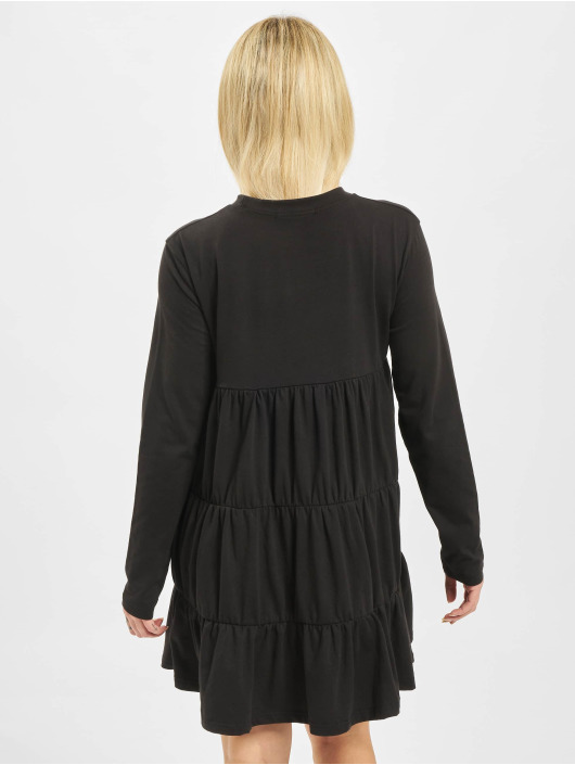 Missguided jurk Jersey Tiered zwart