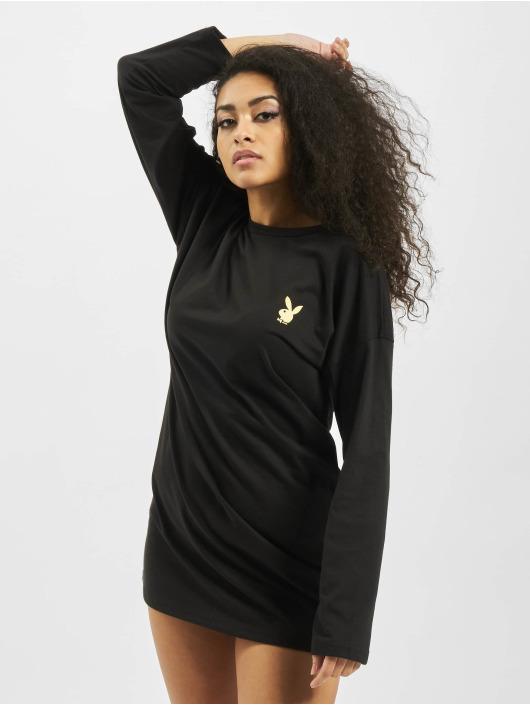 Missguided jurk Playboy Door Magazine Longsleeve T-Shirt zwart