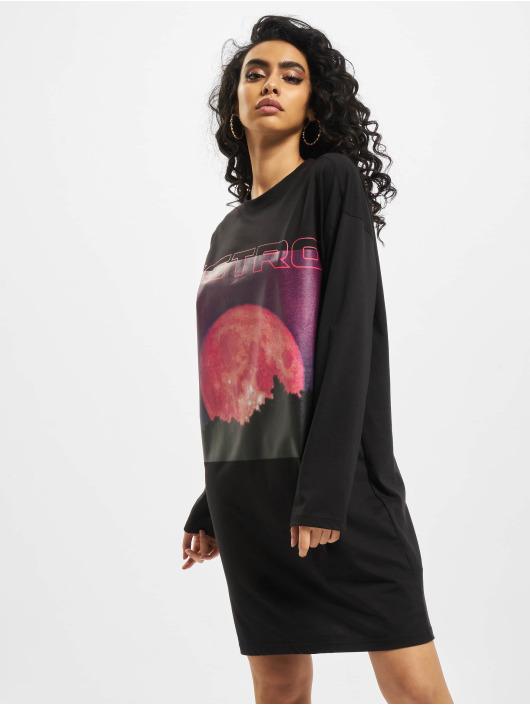 Missguided jurk Oversized  Astro Splatter zwart