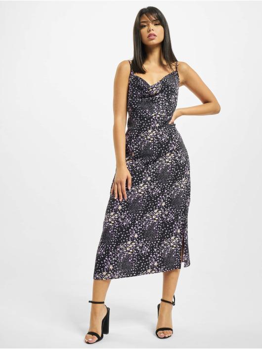 Missguided jurk Cami Cowl Midi Floral zwart