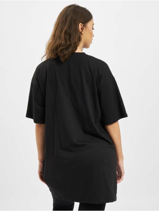 Missguided jurk Oversized Tshirt Short Sleeve Barcode zwart