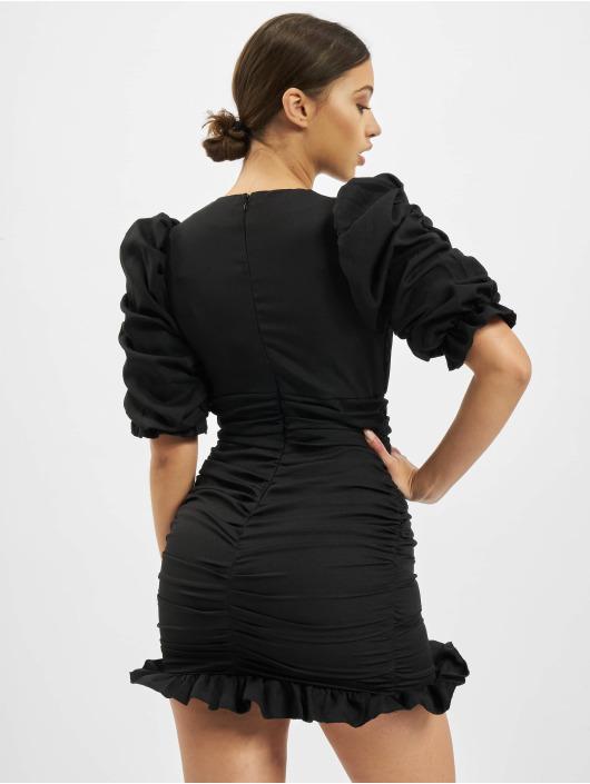 Missguided jurk Short Sleeve Shirred Ruched Mini zwart
