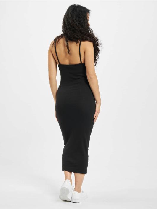 Missguided jurk Ribbed 90s Neck zwart