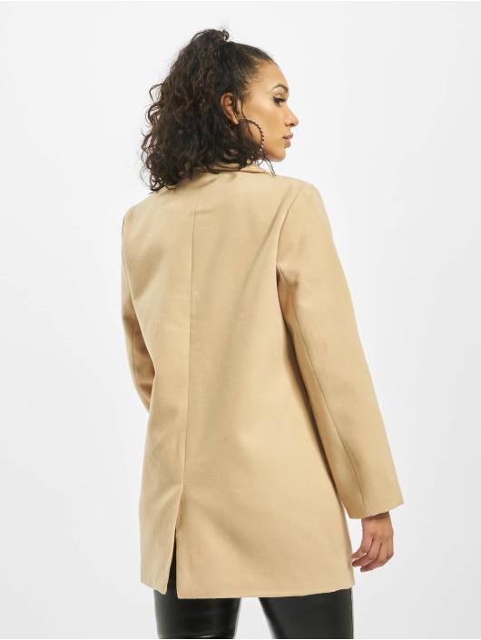 Missguided Kabáty Petite Ultimate Formal béžový