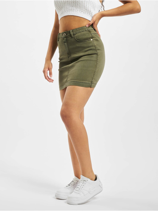 Missguided Kjol Superstretch Denim Mini khaki