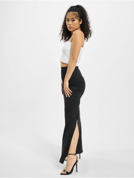 Missguided Kjol Maxi Side Split svart