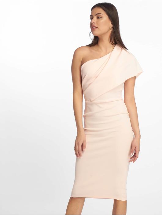Missguided Kjoler One Shoulder Midi rosa