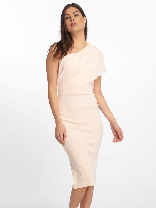 Missguided Kjoler One Shoulder Midi rosa