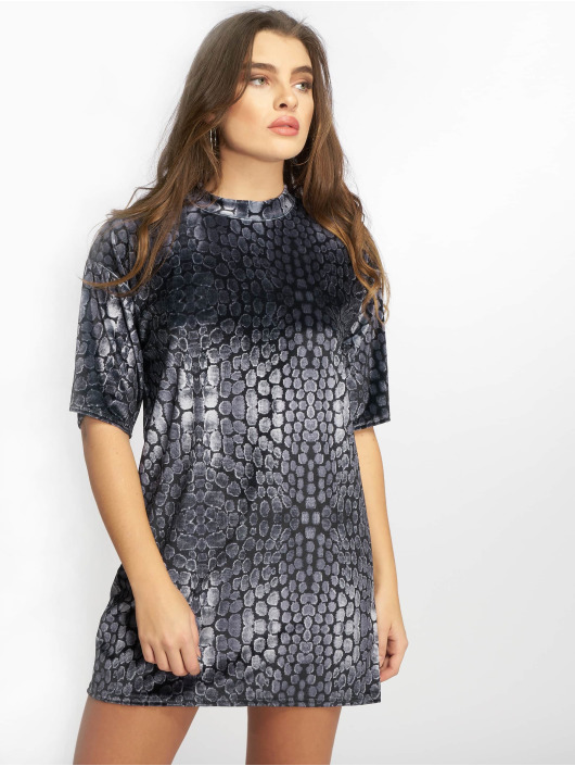 Missguided Kjoler Oversized High Neck Velvet sort