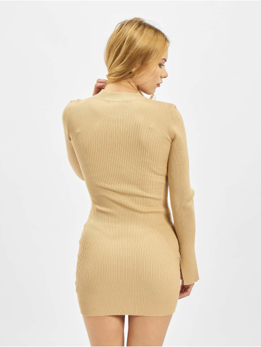 Missguided Klær Crew Neck Ribbed beige