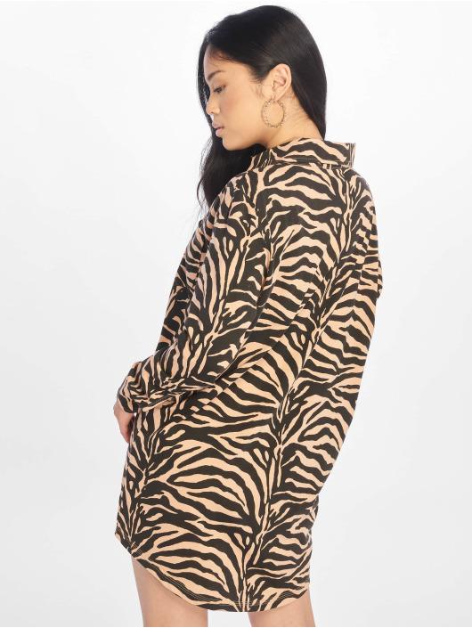 Missguided Klær Oversized Ls Zebra Shirt brun