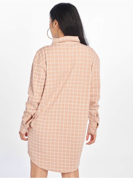 Missguided Klær Oversized Jersey Shirt lyserosa