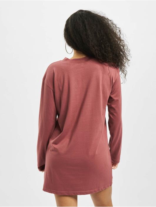 Missguided Klær Basic T-Shirt Dress Longsleeve red